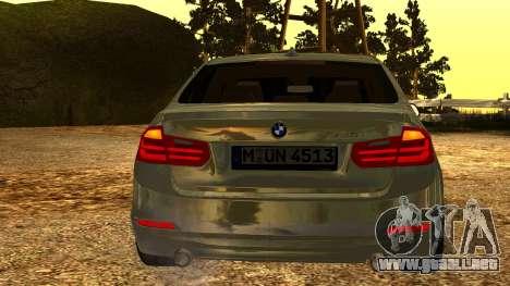 BMW 335i E92 2012 para GTA San Andreas vista hacia atrás