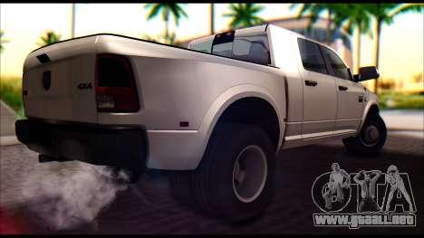 Dodge Ram 3500 Heavy Duty para GTA San Andreas vista posterior izquierda