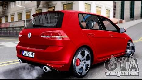 Volkswagen Golf GTI 2015 para GTA San Andreas left