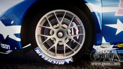 Ferrari 458 GT2 Stevenson Racing para GTA 4 vista hacia atrás