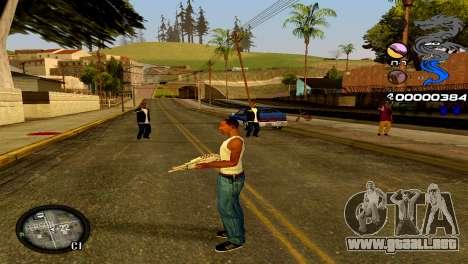 C-HUD Dragon para GTA San Andreas quinta pantalla