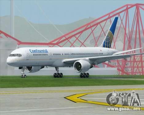 Boeing 757-200 Continental Airlines para la visión correcta GTA San Andreas