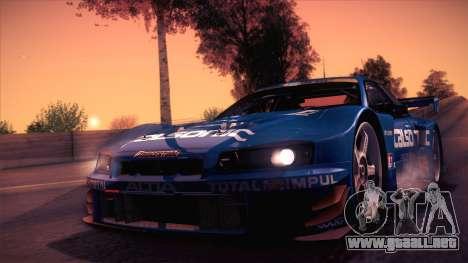 Nissan Skyline GTR-34 2003 para GTA San Andreas left