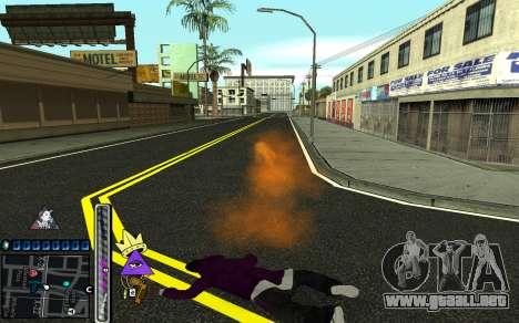 C-HUD Lite SWAG para GTA San Andreas sexta pantalla