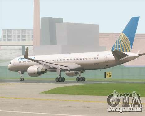 Boeing 757-200 Continental Airlines para GTA San Andreas vista posterior izquierda