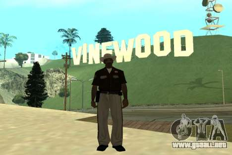 Black Police All para GTA San Andreas séptima pantalla