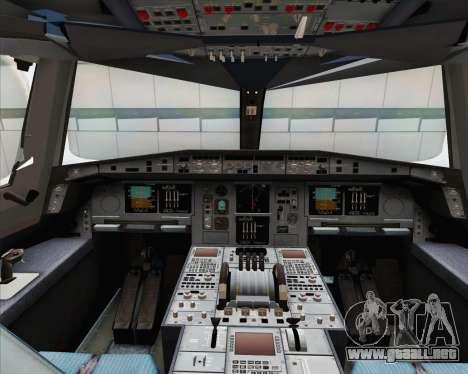 Airbus A380-800 Emirates (A6-EDJ) para visión interna GTA San Andreas