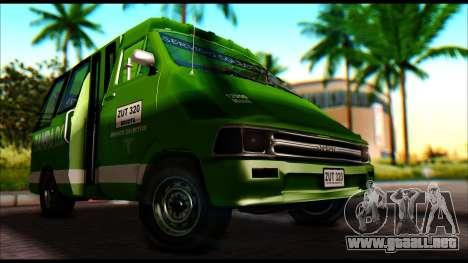 Toyota Microbus para la visión correcta GTA San Andreas