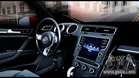 Volkswagen Golf GTI 2015 para visión interna GTA San Andreas