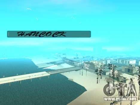 SampGUI Hancock para GTA San Andreas segunda pantalla