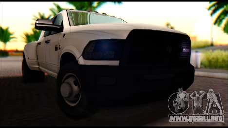 Dodge Ram 3500 Heavy Duty para la visión correcta GTA San Andreas