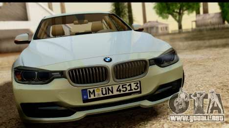 BMW 335i E92 2012 para GTA San Andreas vista posterior izquierda