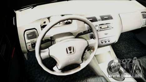 Honda Civic 2005 VTEC para la visión correcta GTA San Andreas