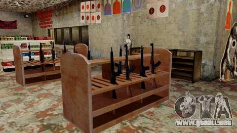 Modelos 3D de armas en Ammu-nation para GTA San Andreas novena de pantalla