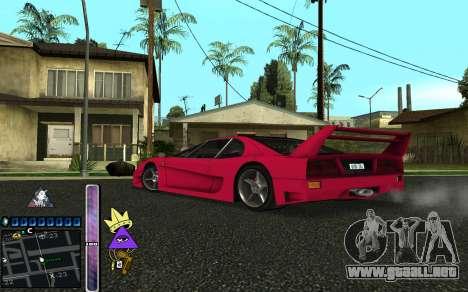 C-HUD Lite SWAG para GTA San Andreas quinta pantalla