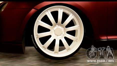Bentley Continental VIP Stance Style para GTA San Andreas left