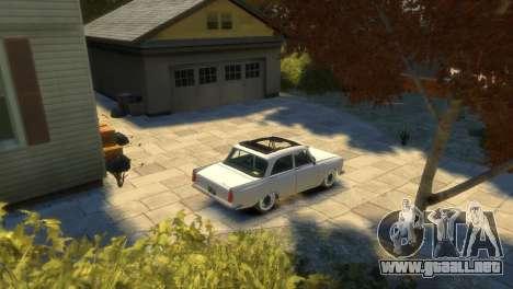 Moskvich 412 para GTA 4 vista desde abajo