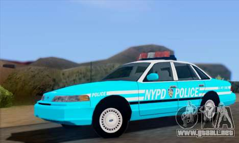 Ford Crown Victoria NYPD Blue para GTA San Andreas