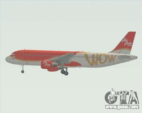 Airbus A320-200 Indonesia AirAsia WOW Livery para visión interna GTA San Andreas