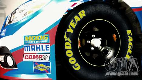 Chevrolet SS NASCAR Sprint Cup Series 2013-2014 para GTA San Andreas vista posterior izquierda