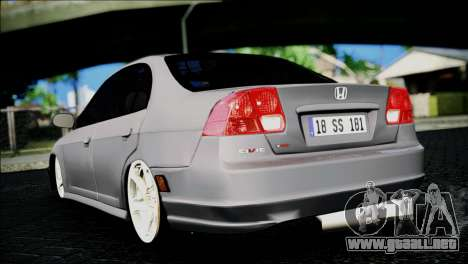 Honda Civic 2005 VTEC para GTA San Andreas left