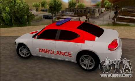 Dodgle Charger Ambulance para GTA San Andreas left