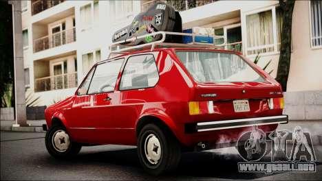 Volkswagen Golf 1 TAS Sarajevo para GTA San Andreas left
