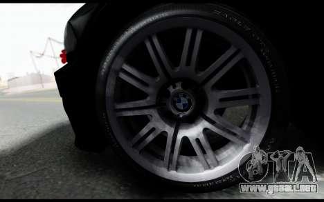 BMW M3 E46 Police para GTA San Andreas vista posterior izquierda