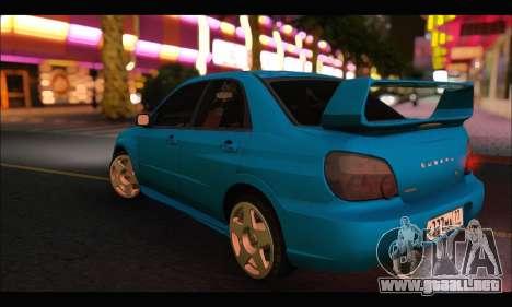 Subaru Impreza WRX STI Tuning para la visión correcta GTA San Andreas