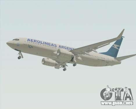 Boeing 737-800 Aerolineas Argentinas para GTA San Andreas vista posterior izquierda