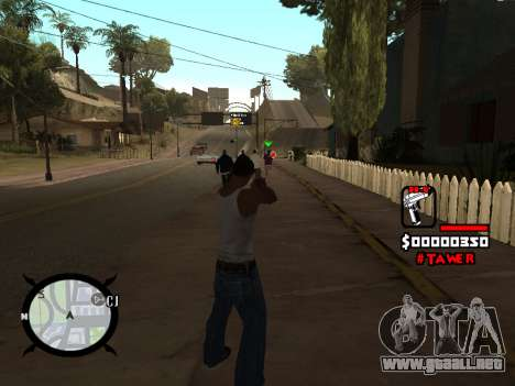 HUD by LokoMoko para GTA San Andreas segunda pantalla
