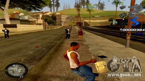 C-HUD Dragon para GTA San Andreas sucesivamente de pantalla