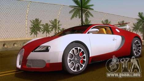 Bugatti Veyron Grand Sport Sang Bleu 2008 para GTA San Andreas