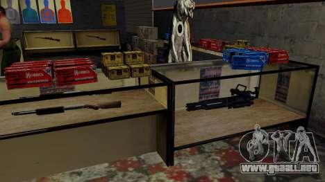 Modelos 3D de armas en Ammu-nation para GTA San Andreas undécima de pantalla
