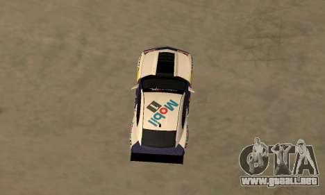 Chevrolet Camaro ZL1 RedBull para GTA San Andreas vista posterior izquierda
