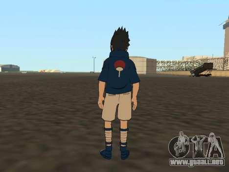 Sasuke Uchiha para GTA San Andreas tercera pantalla