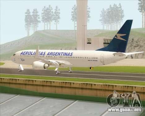 Boeing 737-800 Aerolineas Argentinas para la visión correcta GTA San Andreas