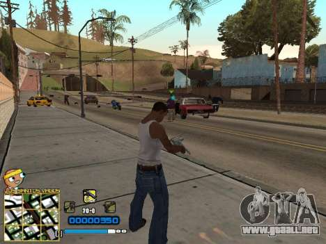 C-HUD Vagos para GTA San Andreas segunda pantalla