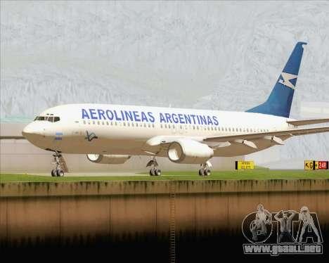 Boeing 737-800 Aerolineas Argentinas para GTA San Andreas left