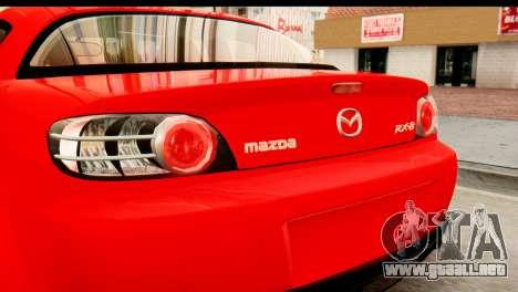 Mazda RX-8 2005 para la visión correcta GTA San Andreas