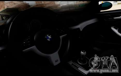 BMW M3 E46 Police para la visión correcta GTA San Andreas