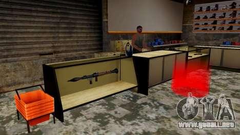 Modelos 3D de armas en Ammu-nation para GTA San Andreas quinta pantalla