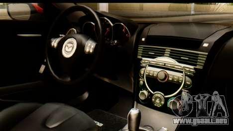 Mazda RX-8 2005 para GTA San Andreas vista hacia atrás