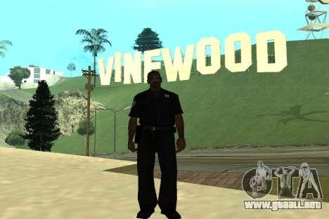 Black Police All para GTA San Andreas sucesivamente de pantalla