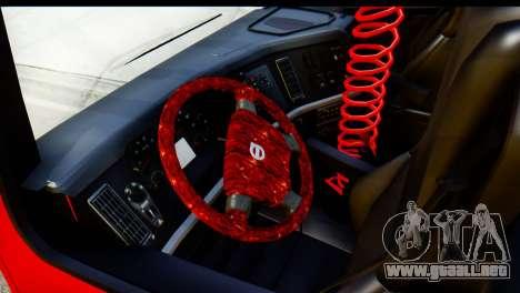 Volvo FH16 Hal Kamyonu para GTA San Andreas vista hacia atrás