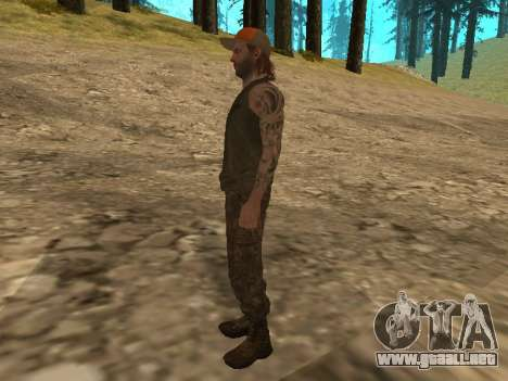 Cletus Ewing de GTA V para GTA San Andreas sucesivamente de pantalla