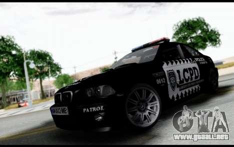 BMW M3 E46 Police para GTA San Andreas