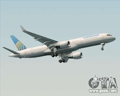 Boeing 757-200 Continental Airlines para visión interna GTA San Andreas