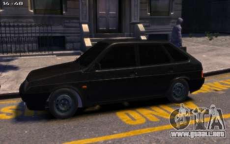 Lada 2109 para GTA 4 Vista posterior izquierda