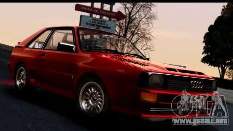 Audi Sport Quattro B2 (Typ 85Q) 1983 [IVF] para GTA San Andreas vista posterior izquierda